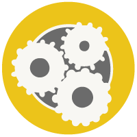 logo of cogs in a circle