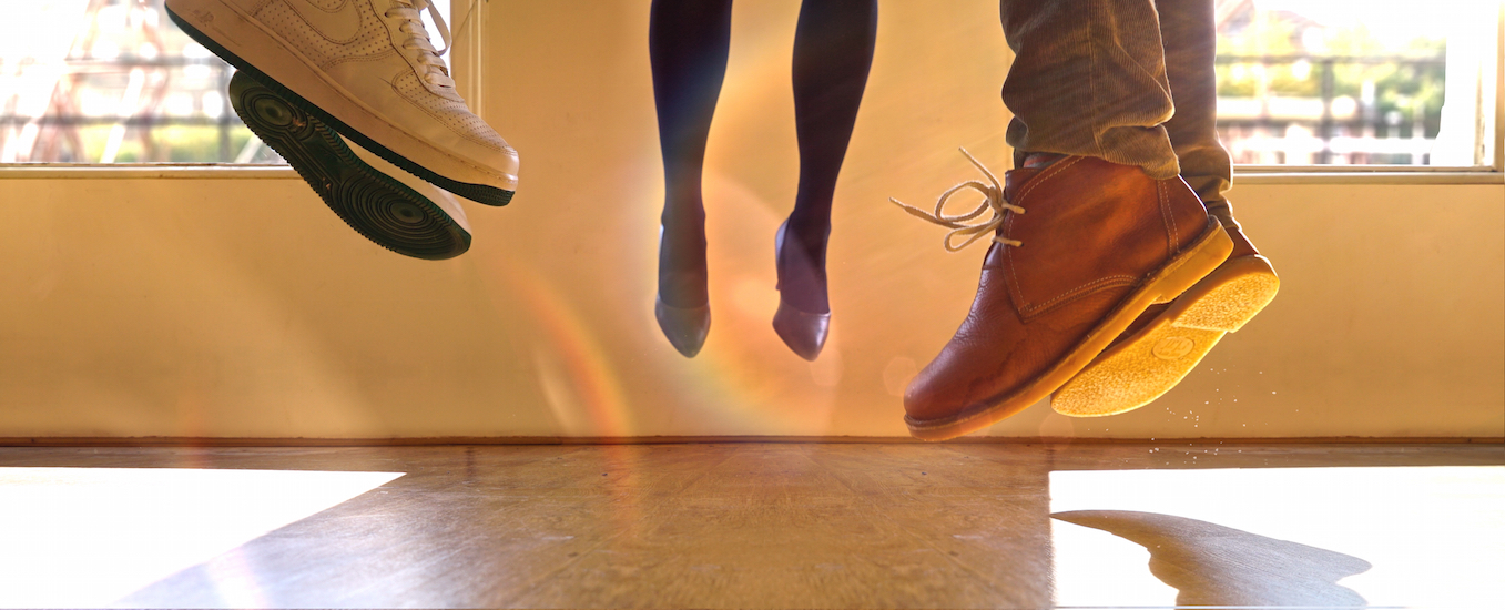 three jumping