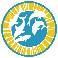 play skills image of a logo containing dolphins